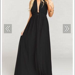 Black Show Me Your Mumu gown
